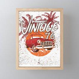 Vintage Power 76 Classic Hod Rod Framed Mini Art Print