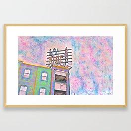 Sign @ 18th & Vine Framed Art Print
