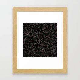 Modern faux rose gold glitter gemstones Framed Art Print