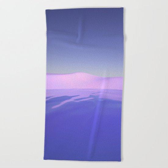 Purple Beach Beach Towel