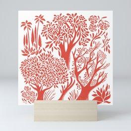 Red Forest Mini Art Print