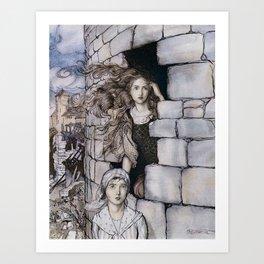"Arthur Rackham,"" Maid Maleen "" Art Print"