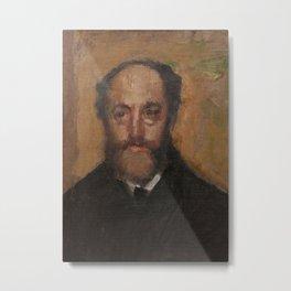 Portrait of the Art Critic Durand-Gréville Metal Print