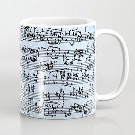 Hand Written Sheet Music // Light Blue Coffee Mug