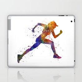 Woman runner jogger running Laptop & iPad Skin