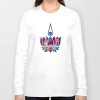 buddhism Long Sleeve T-shirts featuring Lotus by Spooky Dooky
