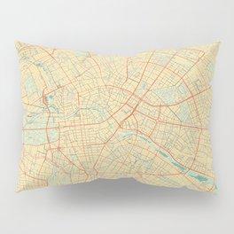 Berlin Map Retro Pillow Sham