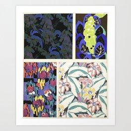 Art Deco vintage pattern design Art Print
