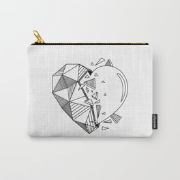 Geometrical Heart Carry-All Pouch