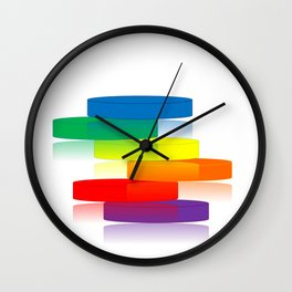 Rainbow Ladder Wall Clock