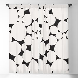 Circular Collage - Black & White II Blackout Curtain