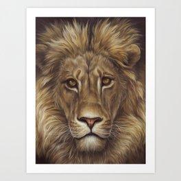 Animals   Lion Portrait   Nature   Painting   Art Art Print