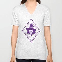 Witch Sugar Skull Unisex V-Neck