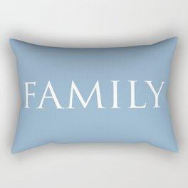 Family word on placid blue background Rectangular Pillow