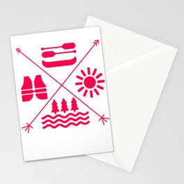 rafting gift raft dinghy raft whitewater Stationery Cards