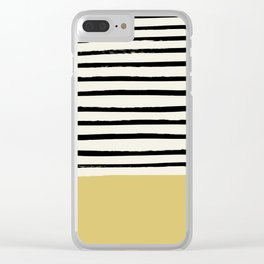 Daffodil Yellow x Stripes Clear iPhone Case
