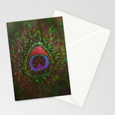 Shimmering Peacock Feather Stationery Cards