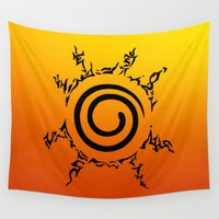 seal Wall Tapestries featuring NARUTO SEAL by Smart Friend