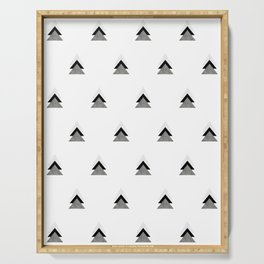 Arrows Collages Monochrome Pattern Serving Tray