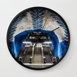 T-Centralen Metro Station in Stockholm, Sweden II Wall Clock