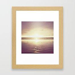 Purple Shores Framed Art Print