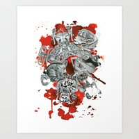 The seven deadly sins Art Print