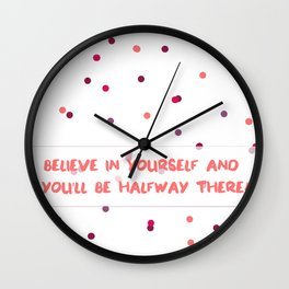 Thoughtful Dots Wall Clock