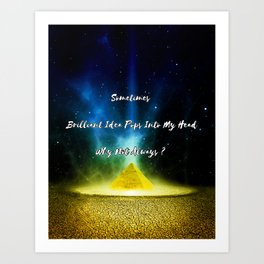 Motivational Quote Gold Art Print