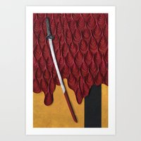 kill bill Art Prints featuring Kill Bill by yakawonis
