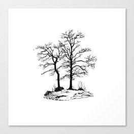 Dark tree silhouette Canvas Print
