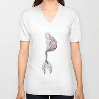 mermaid V-neck T-shirts featuring mermaid  by Ina Spasova puzzle
