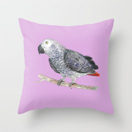 Gray Bro Throw Pillow
