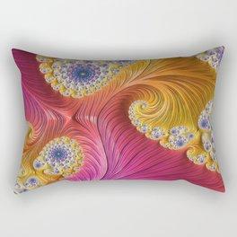 Pink Purple & Orange Swirls Rectangular Pillow