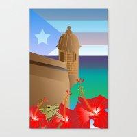 puerto rico Canvas Prints featuring Puerto Rico by PADMA DESIGNS PR
