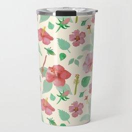 Hibiscus Pattern Travel Mug