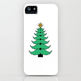Mustache Christmas Tree Funny Holiday Gift iPhone Case