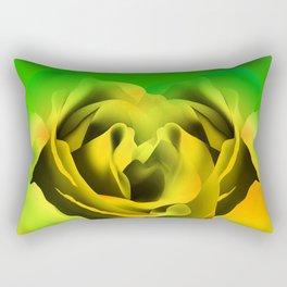 Neon Rose Rectangular Pillow