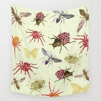 insects Wall Tapestries featuring Insects by Stag Prints