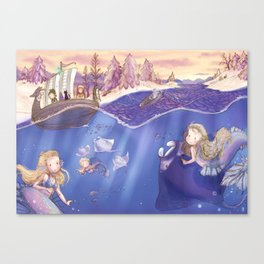 Travesy on the frozen sea Canvas Print