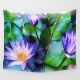Purple Lotus Wall Tapestry