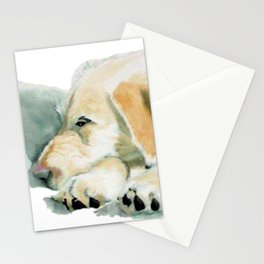 Sleepy Labradoodle Pup Stationery Cards