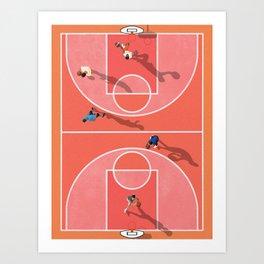 Street Basketball Playground  Art Print