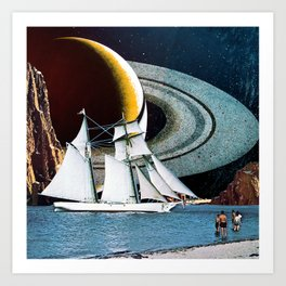 Orbital Sailing Art Print