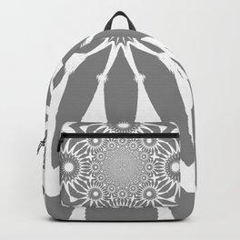 The Modern Flower Gray Backpack