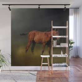 Copper Colt In The Moonlight Wall Mural