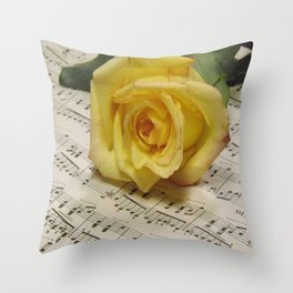 Classical Rose Throw Pillow