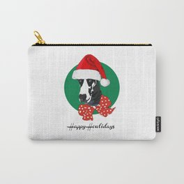 Happy Howlidays-I Wuf You Great Dane Carry-All Pouch
