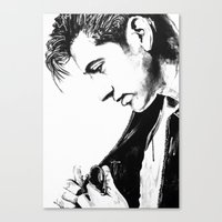 alex turner Canvas Prints featuring Alex Turner by davidcain_art
