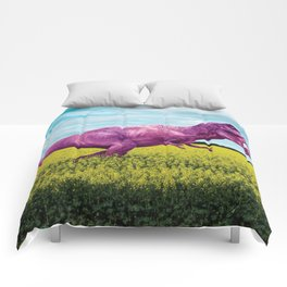 Pink in the fields Comforters