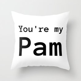 My Pam Throw Pillow